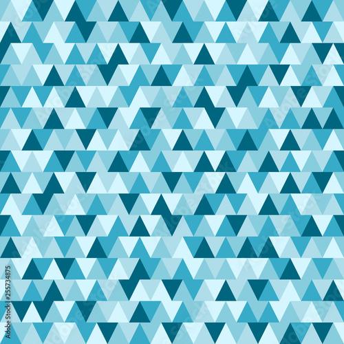 niebieski-trojkat-wzor-geometryczna-tapeta