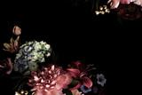 Fototapeta Kwiaty - Floral card. Vintage flowers.