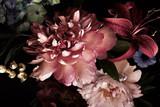 Tło kwiatowy. Vintage kwiaty. - 255736829
