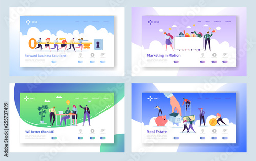 Photo  Creative Teamwork Idea Concept Landing Page