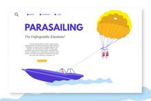 Parasailing Landing Page Templ...