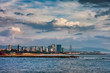 Barcelona City Skyline Sea View