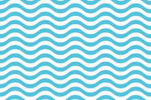 Wave Pattern Seamless Abstract Background. Stripes Wave Pattern White And Blue Colors For Summer Vector Design.