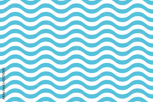 Fototapeta Wave pattern seamless abstract background. Stripes wave pattern white and blue colors for summer vector design. obraz