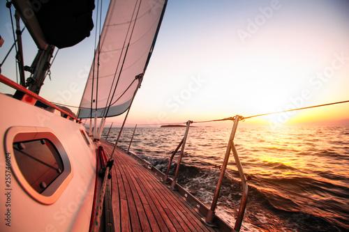 Staande foto Zeilen Luxury yachts, vacation in the Sea. Sailing boats.
