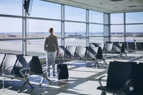 Fotografie, Obraz Traveler in airport terminal