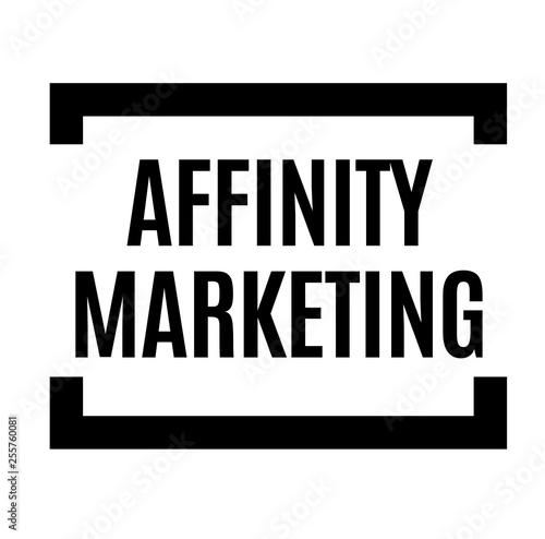 affinity marketing black stamp Wallpaper Mural