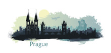 Stylized Landscape Of Prague W...