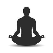 Yoga Meditation Vector Icon