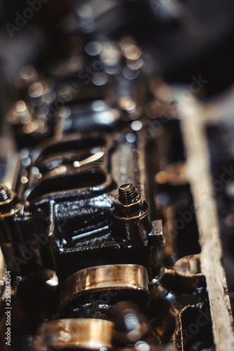 Photo  engine valve in oil