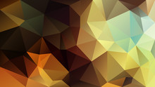 Vector Abstract Irregular Polygon Background - Triangle Low Poly Pattern - Yellow Brown Khaki Gold Orange Color