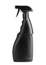 Spray Bottle Isolate On White Background. Black Bottle Spray Bottle.