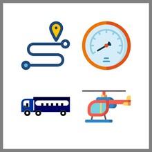 4 Transportation Icon. Vector ...