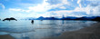 Beautiful panoramic view on beach in Brasil with view on island