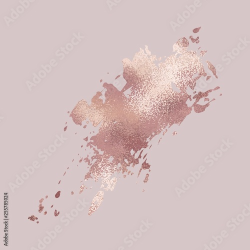 Fotomural Brush stroke. Rose gold. Elegant metallic texture for the design