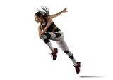 Fototapeta Sport - Woman sprinter leaving starting
