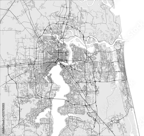 map of the city of Jacksonville, Florida, USA – kaufen Sie ...