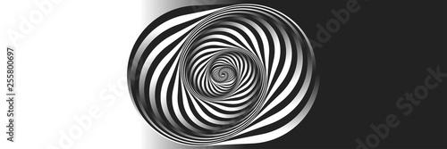 Fototapeta premium Surrealizm. Psychologia i filozofia, próbka do druku. Fraktal czarno-białe tło. Styl Eschera. Obrazy w stylu optycznych iluzji wizualnych - pop-art.