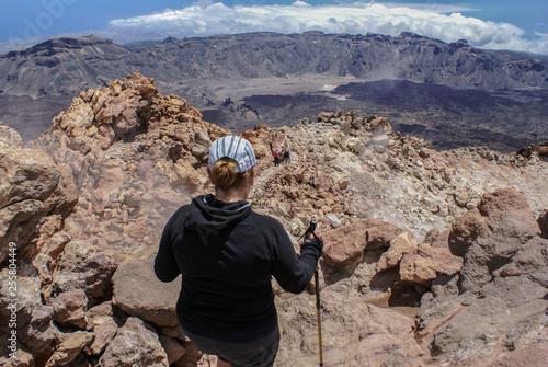 Pico del Teide Teneryfa. Kanary krater. Hiszpania, Europa Canvas Print