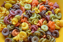 Colored Pasta In The Plate
