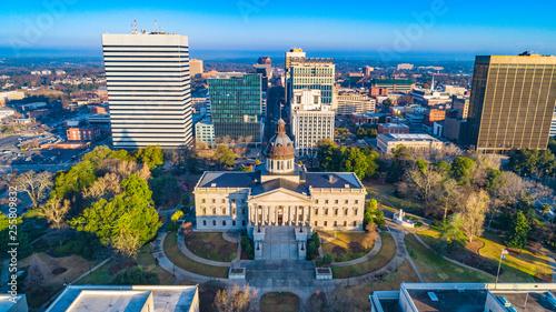 Fototapeta Columbia, South Carolina, USA State House Aerial obraz