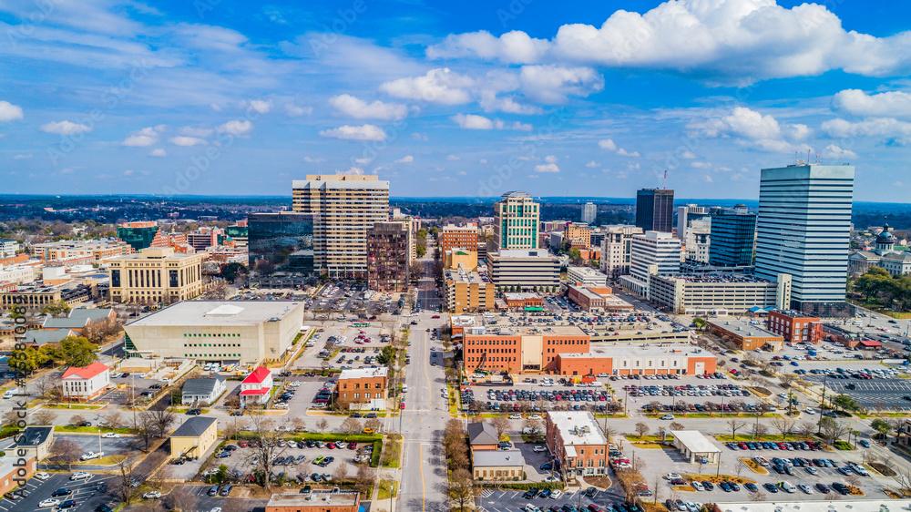 Fototapety, obrazy: Downtown Aerial Panorama of Columbia, South Carolina, USA