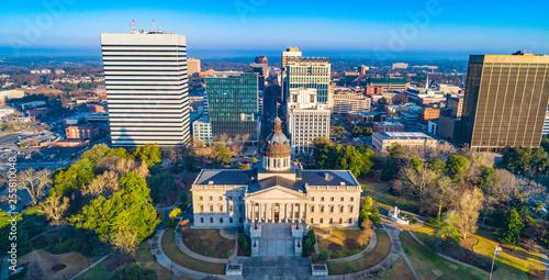 Obraz na plátne Downtown Columbia South Carolina Skyline SC Aerial Panorama