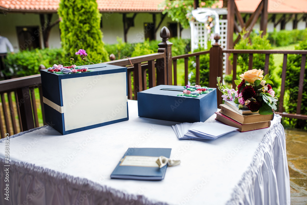 Fototapety, obrazy: Wedding book for wishes and wedding box