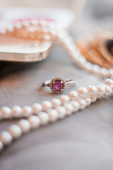 Glamorous Wedding Detail Engagement Ring