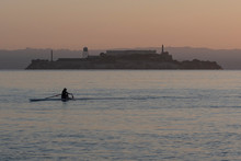 Solo Rower In Racing Shell On ...