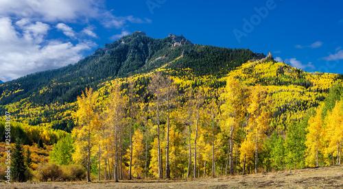 Deurstickers Herfst Autumn at Silver Jack Reservoir near Ridgway Colorado Rocky Mountains