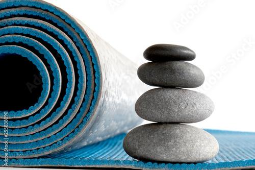 Photo sur Plexiglas Zen pierres a sable Yoga mat meditation