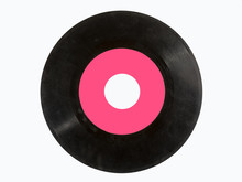 Old Vinyl Record Isolated On W...