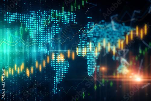 Fototapeta Global trade and invest concept obraz
