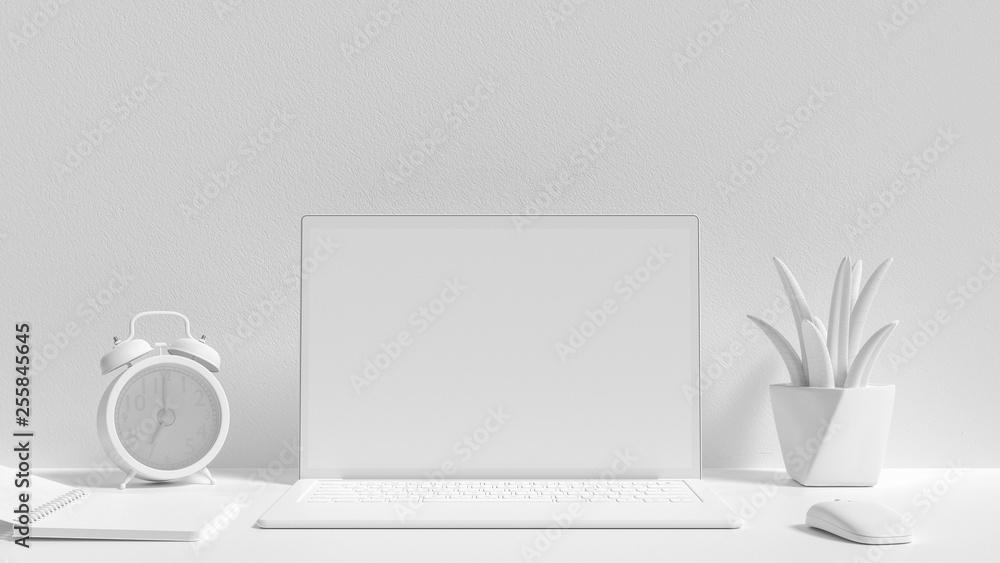 Fototapety, obrazy: Minimal idea concept, Laptop background