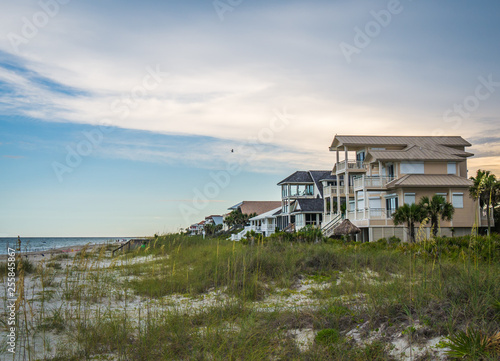 Fotografia, Obraz St George Island Florida beach houses real estate with view of the Gulf of Mexic