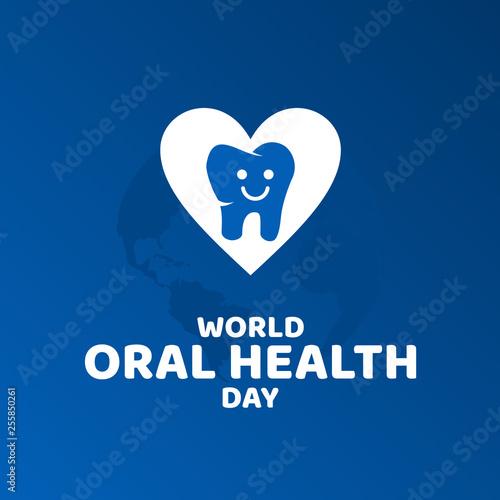 Fotografie, Obraz  World Oral Health Day Vector Design