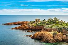 Red Rocks Coast Cote D Azur Near Cannes, France