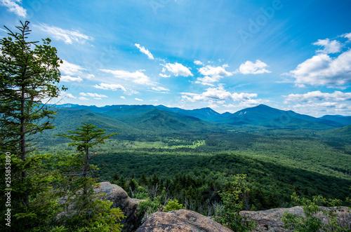Photo Hiking mount van hoevenberg in the adirondack mountains near Lake Placid NY