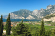 view of the townTorbole and Lake Garda, Italy