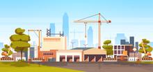 Modern City Construction Site ...
