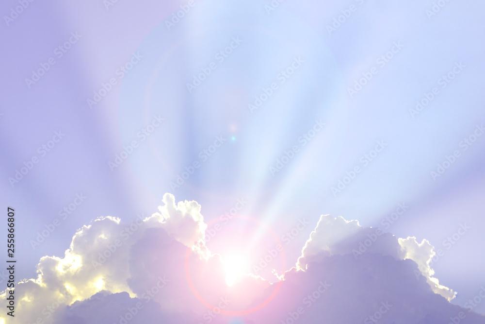 Fototapety, obrazy: beautiful cloud at sunrise