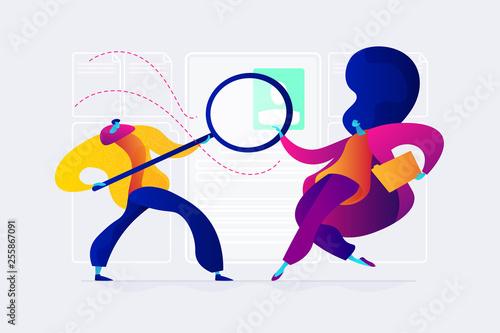 Fototapeta Recruitment agency concept vector illustration. obraz na płótnie