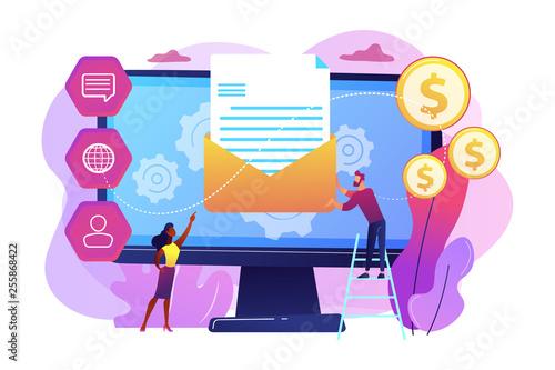 Fotografie, Obraz  Marketing automation system concept vector illustration.