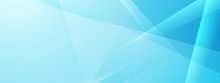 Abstract Blue Tech Shiny Low Poly Banner Design