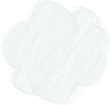 Colored Pencil Style Colorful Rough Sketch Of A Cute Cloud Type Frame