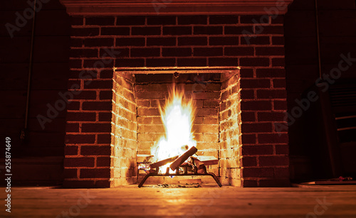 Photographie Flame in a fireplace