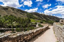 Ancient Inca Walls At The Foot...