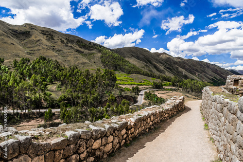 Fotografie, Tablou Ancient Inca walls at the foot of the Andes