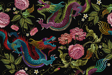 Embroidery Chinese Dragons And...